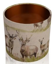 Voyage Maison Moorland Stag Lampshade c/w Brushed Copper Interior